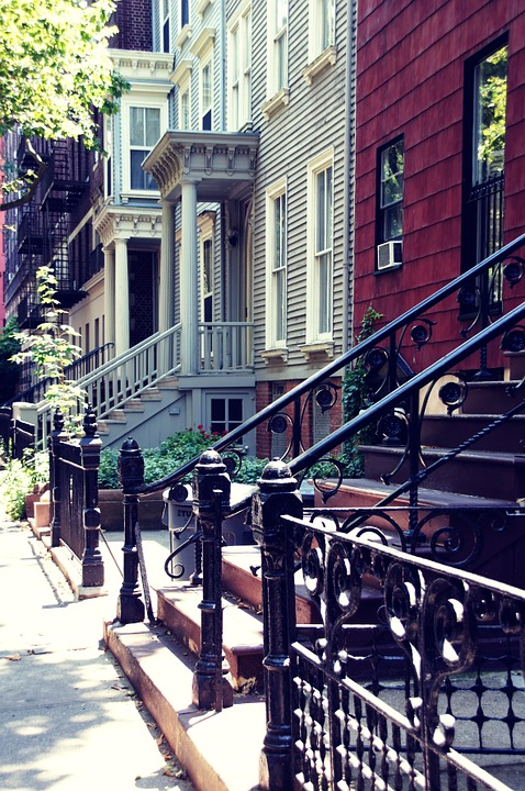 : Image of the Brooklyn houses.