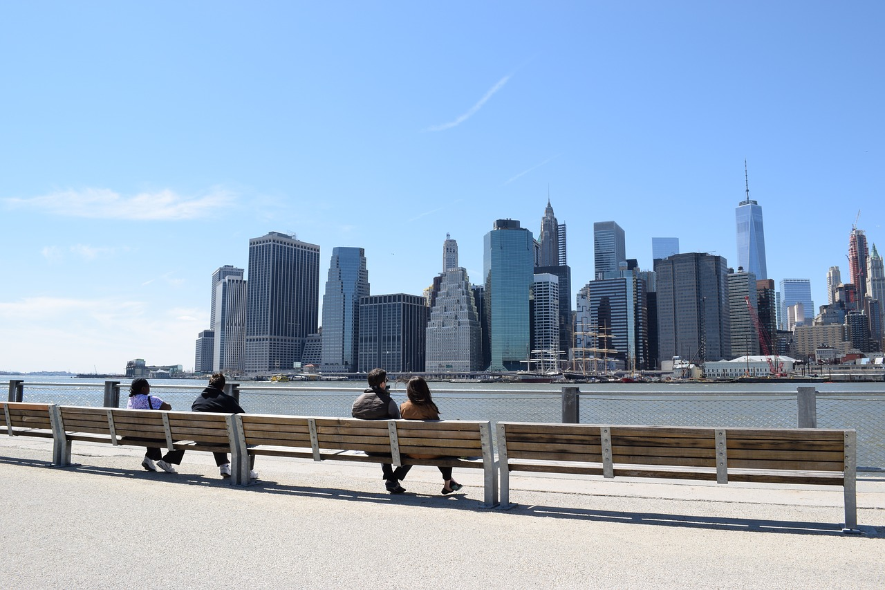 Manhattan panorama seen from Brooklyn