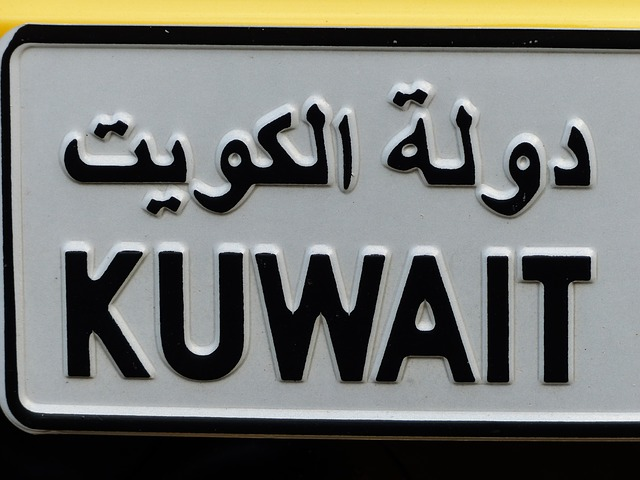 Car registration number - something you will need to get after moving from Brooklyn to Kuwait