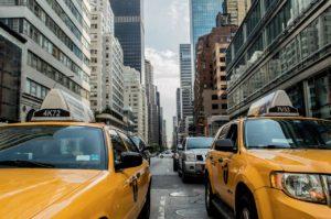 Cars on a NYC street