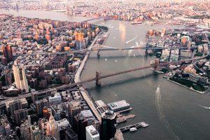 Aerial view of Brooklyn.