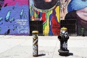 Street art in one of Brooklyn's neighborhoods.