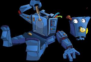 A robot disassembling itself