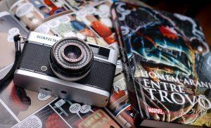 camera and comic book