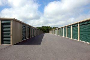 view of storage units