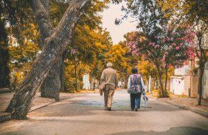 Elderly walking through one of the best neighborhoods for seniors