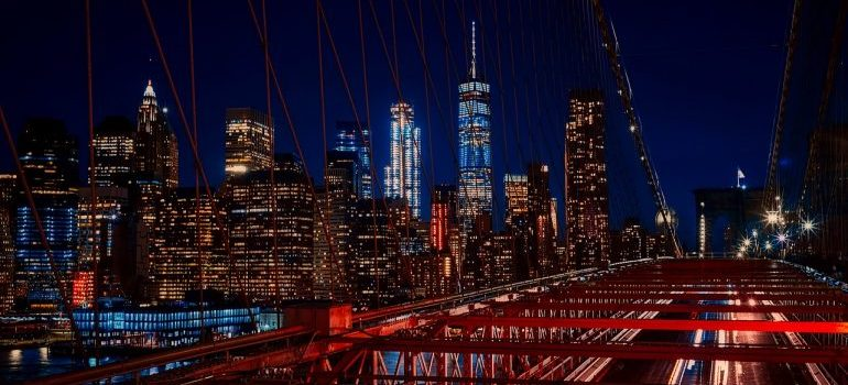 A view onto Brooklyn at night representing Millennials moving to Brooklyn and enjoying its nightlife