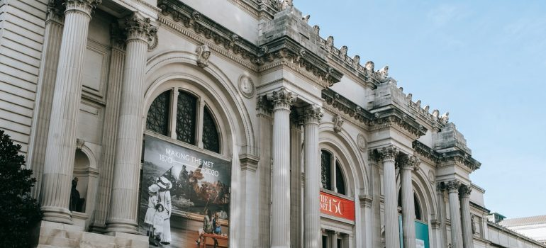 A view of the entrance of the Metropolitan Museum of Arts