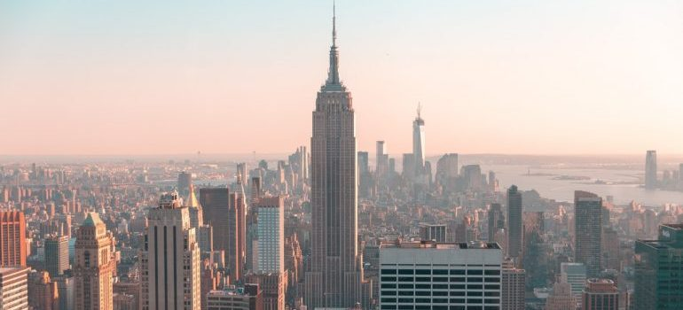 Skyline of Empire State Building