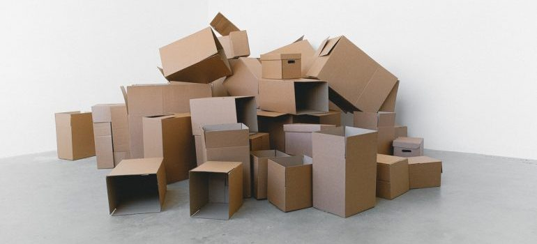 Pile of different sized boxes